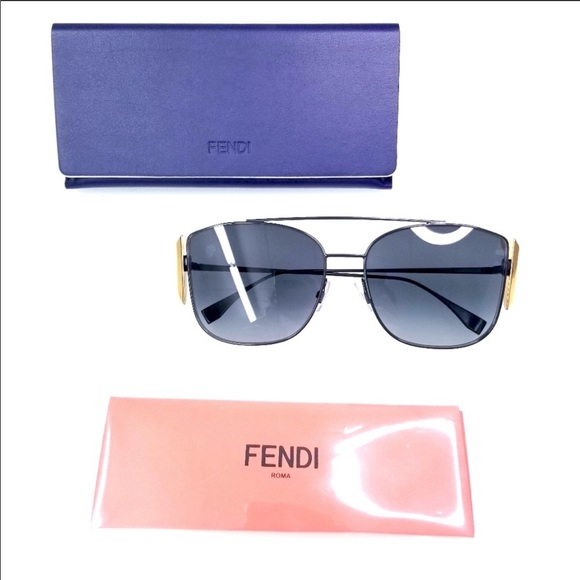 Fendi Accessories - Fendi black dark grey gradient sunglasses